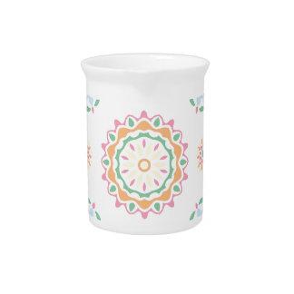 Bohemian retro abstract ornament design beverage pitcher