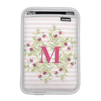 Bohemian Rose Garden   Floral Monogram Sleeve For iPad Mini