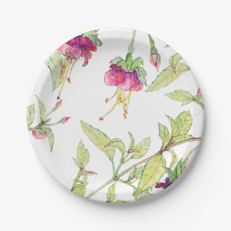 Bohemian Rose Garden | Floral Paper Plates 7 in
