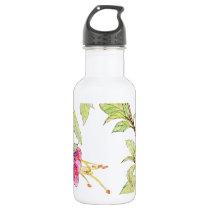 Bohemian Rose Garden | Floral Pattern Water Bottle