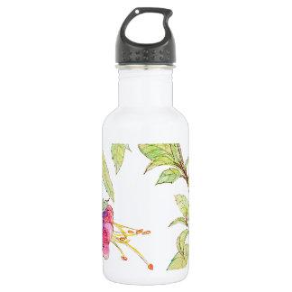 Bohemian Rose Garden   Floral Pattern Water Bottle