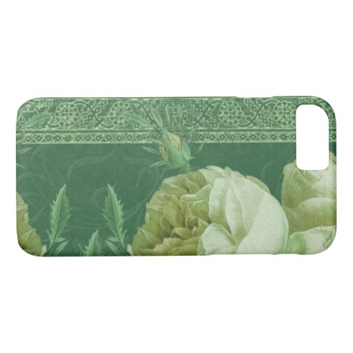 BOHEMIAN ROSE in CELADON and KELLY GREENS iPhone 8/7 Case