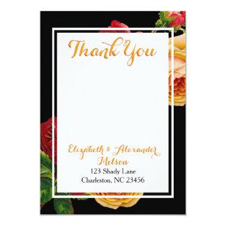 Bohemian Roses Custom Thank You Note Card