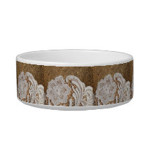 bohemian rustic western country burlap and lace bowl