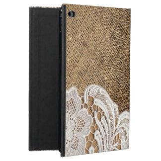 bohemian rustic western country burlap and lace powis iPad air 2 case