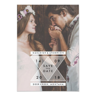 Bohemian Save the Date | Chic Triangles Card