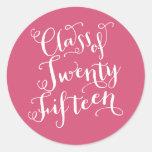 Bohemian Script in Hot Pink  | Graduation Sticker