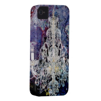 Bohemian Shabby Chic purple watercolor Chandelier Case-Mate iPhone 4 Case