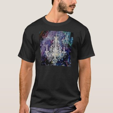 acharmingprintz Bohemian Shabby Chic purple watercolor Chandelier T-Shirt