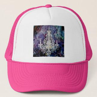 Bohemian Shabby Chic purple watercolor Chandelier Trucker Hat