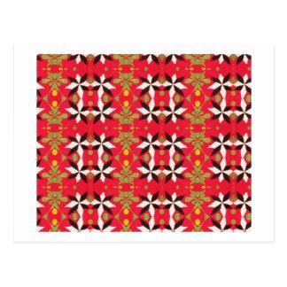Bohemian Southwest Tribal  pattern Postcard