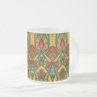 Bohemian Stained Glass Pattern Frosted Glass Coffee Mug