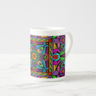Bohemian Stained Glass Style Tea Cup