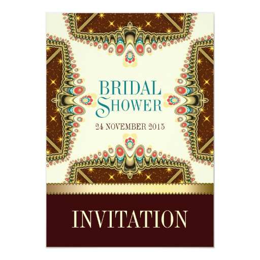 Bohemian Stars Bridal Shower Invitation