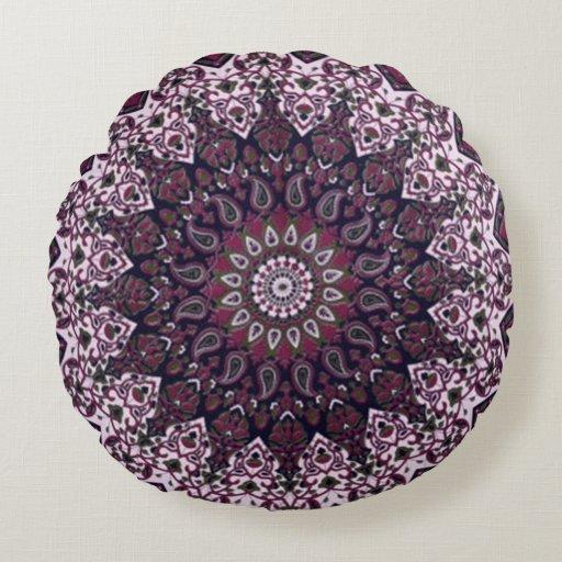 Bohemian Style Pillow Round Pillow Zazzle
