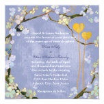 "Bohemian Style Powder Blue Wedding Invitations 5.25"" Square Invitation Card"