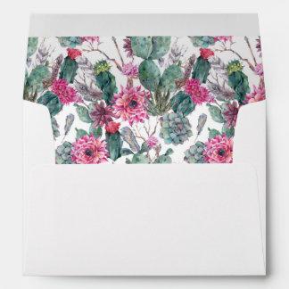 Bohemian Succulent & Floral -  Wedding Envelope