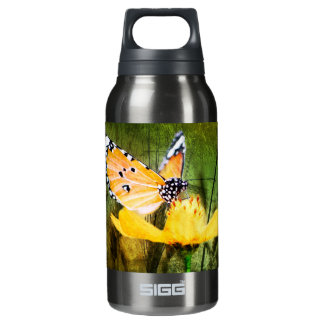 Bohemian summer daisy western country butterfly insulated water bottle