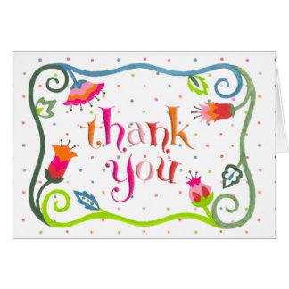 Bohemian Thank You - Note Card