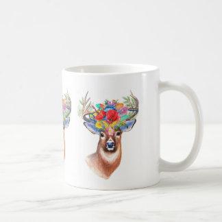 Bohemian Theme Majestic Stag Coffee Mug