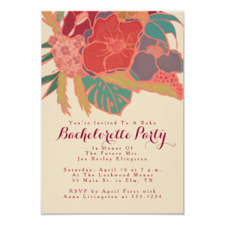Bohemian Themed Invitation Bachelorette Party