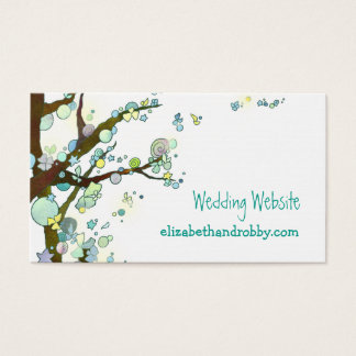 Bohemian Tree Wedding Website Enclosure Business Card