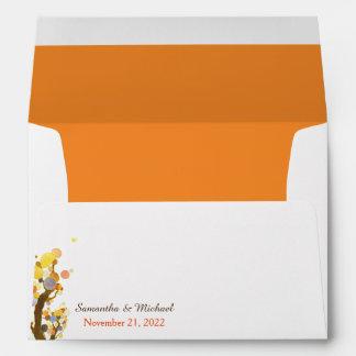 Bohemian Trees Wedding Invitation A7 Envelopes