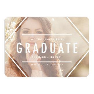 "Bohemian Triangle   Photo Graduation Announcement 5"" X 7"" Invitation Card"