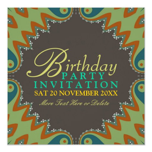 Bohemian Tribal Birthday Party Invitations
