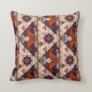 Bohemian Tribal Vintage Pattern Pillow