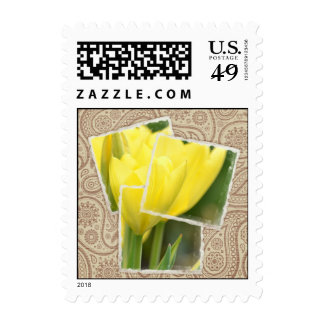Bohemian Tulip Floral Postage Stamps