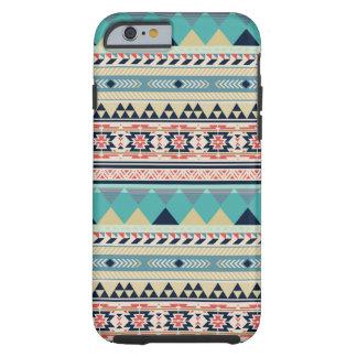 Bohemian Turquoise Tribal Geometric Pattern Tough iPhone 6 Case