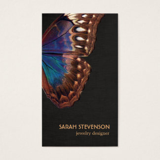 Bohemian Vintage Butterfly Wing Nature Business Card