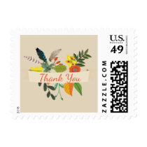 Bohemian Vintage Floral Thank You Stamp