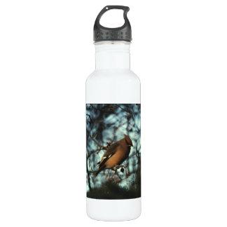Bohemian Waxwing 01 Stainless Steel Water Bottle