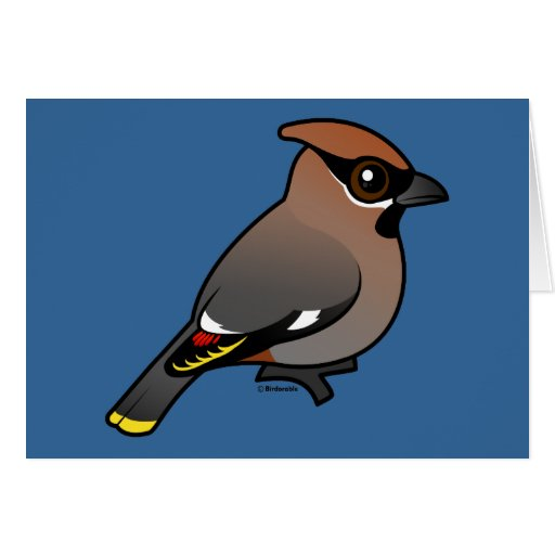 Bohemian Waxwing Greeting Cards