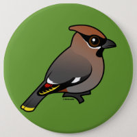 Bohemian Waxwing Round Button