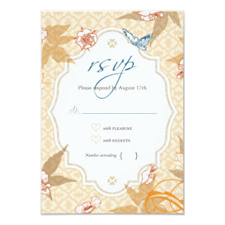 Bohemian Wedding RSVP Card with Envelope