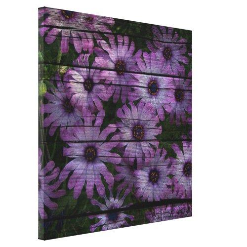 Bohemian Western Country Barn Board purple daisy
