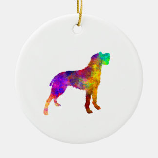 Bohemian Wirehaired Pointing Griffon in watercolor Ceramic Ornament