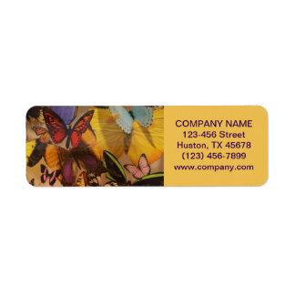 Bohemian Yoga Zen Holistic Healing butterfly Label