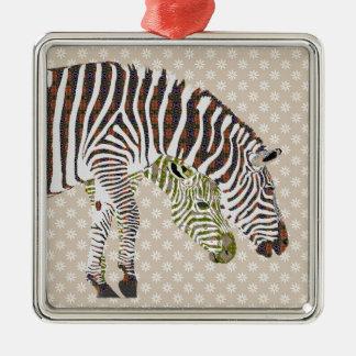 Bohemian Zebras Ornament