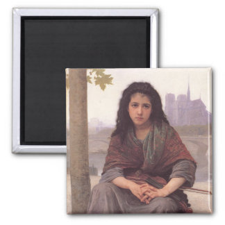 Bohemienne (The Bohemian) by William Bouguereau 2 Inch Square Magnet