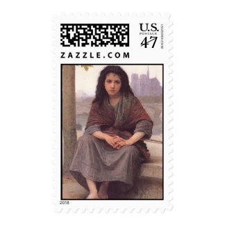 Bohemienne (The Bohemian) by William Bouguereau Postage Stamp