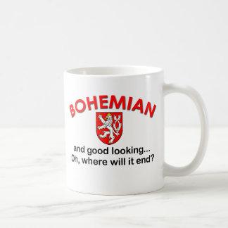 Bohemio apuesto tazas