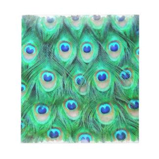 Bohemio del pavo real bloc de notas