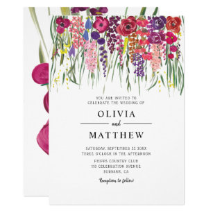 Acrylic Wedding Invitations Zazzle