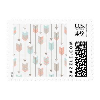 Boho Arrows Pattern Postage Stamp