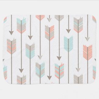 Boho Arrows Pattern Receiving Blanket