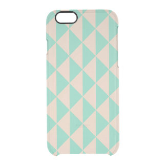 Boho Arrows Peach Mint Changeable Background Color Clear iPhone 6/6S Case
